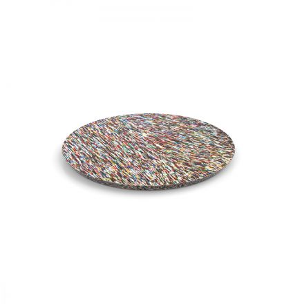 SMALL SIDE TABLE TOP FROM 100% RECYCLED COSMETIC PACKAGING