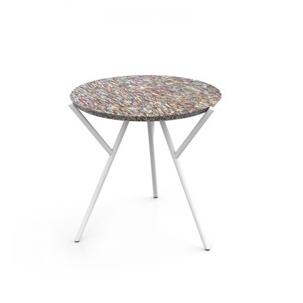 COFFEE TABLE 40 CM FROM 100% RECYCLED COSMETIC PACKAGING