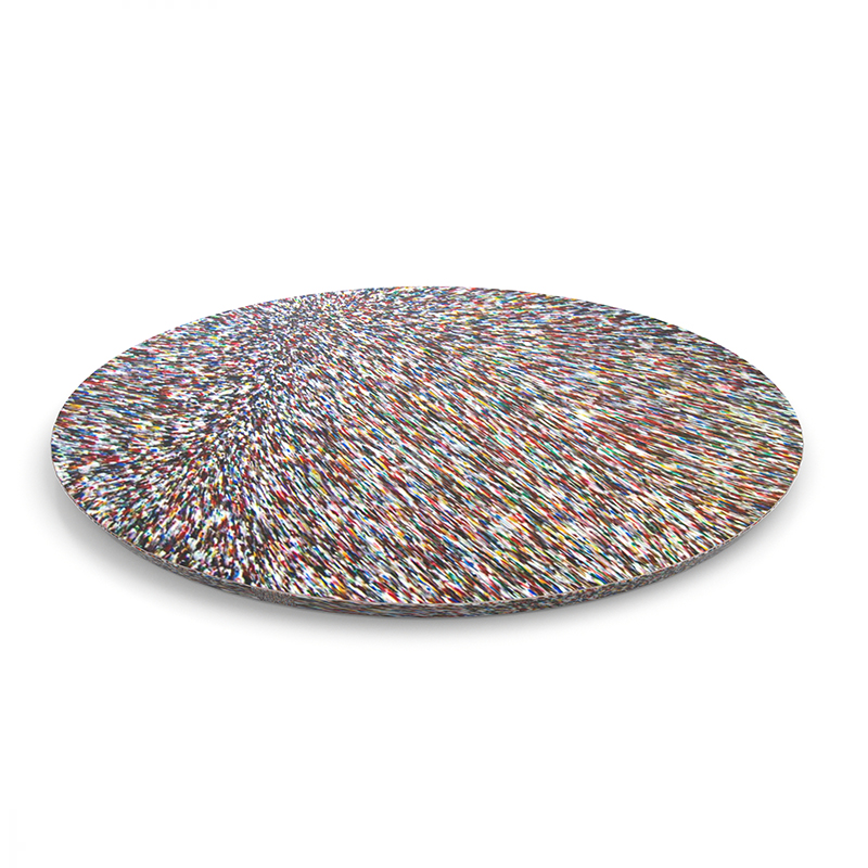 MEDIUM COFFEE TABLE TOP FROM 100% RECYCLED COSMETIC PACKAGING