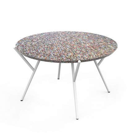 COFFEE TABLE 60 CM FROM 100% RECYCLED COSMETIC PACKAGING