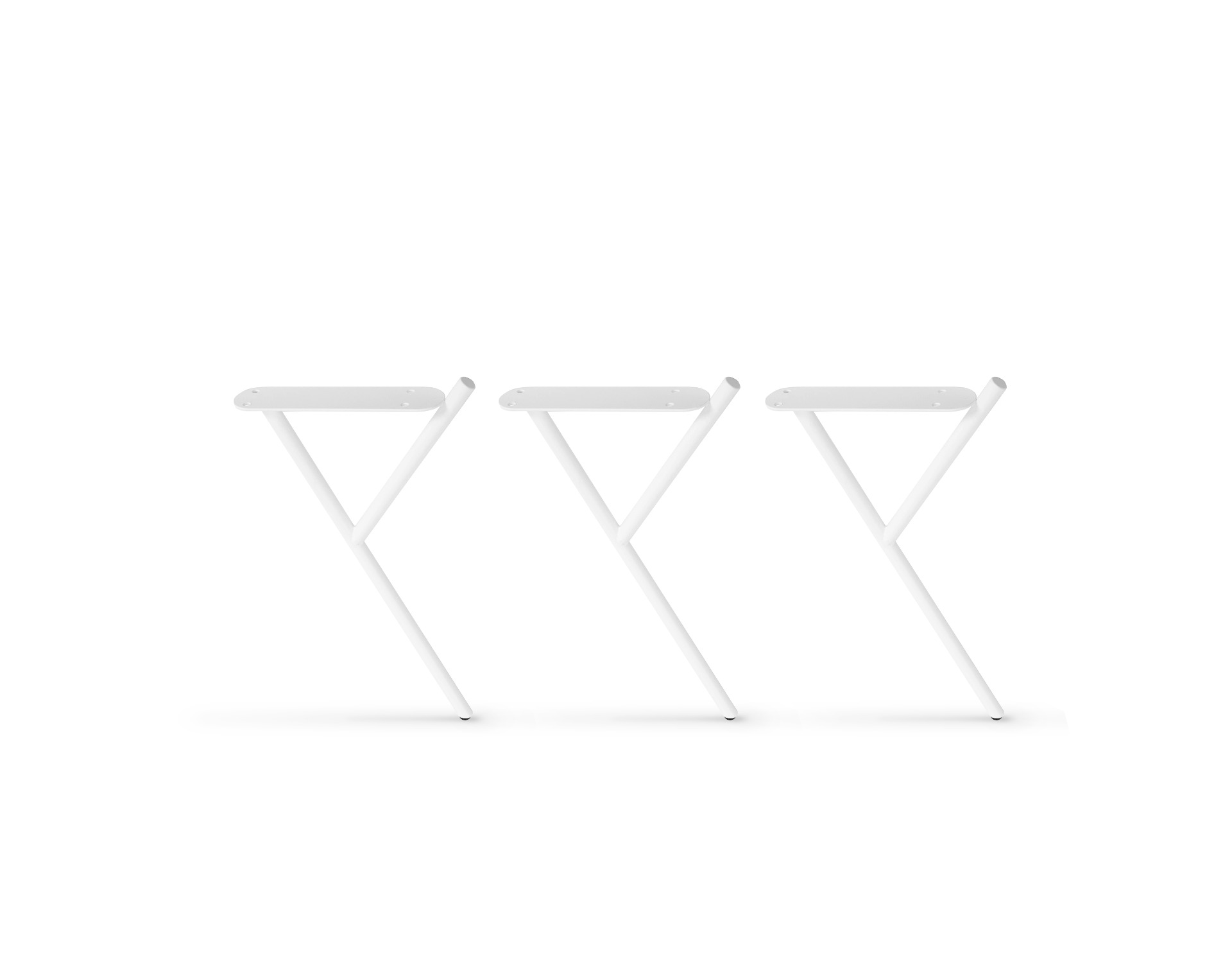 MID-HEIGHT WHITE SIDE TABLE LEGS - 3 PCS