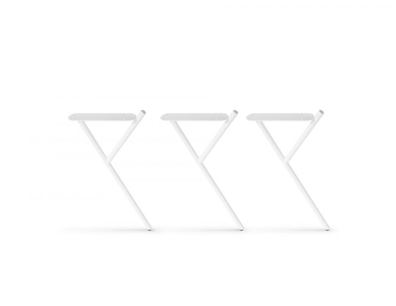 HIGH WHITE SIDE TABLE LEGS - 3 PCS