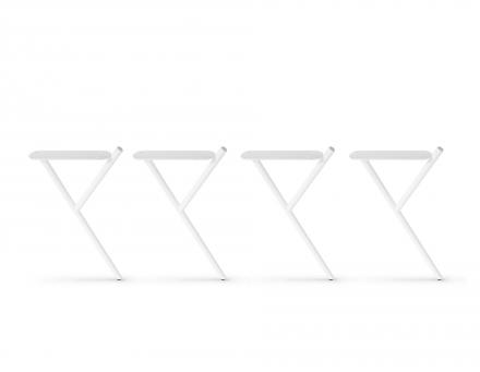 MID-HEIGHT WHITE CONFERENCE TABLE LEGS - 4 PCS