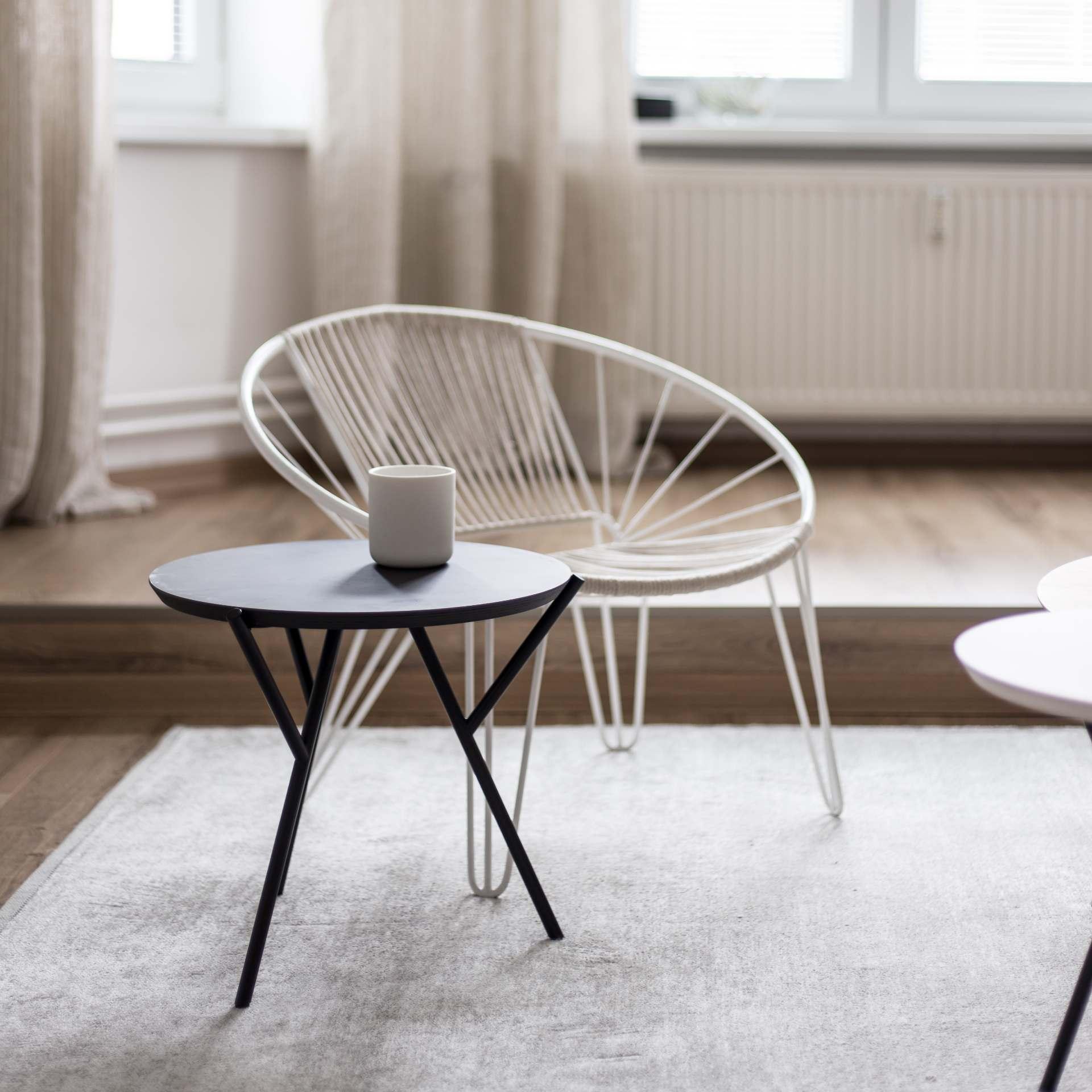 LOW BLACK SIDE TABLE LEGS - 3 PCS | Martin Foret